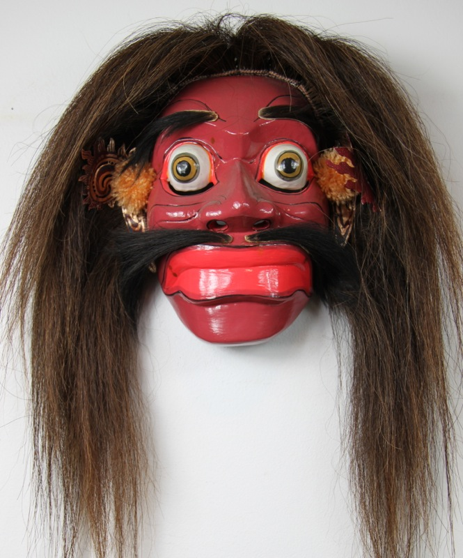 Balinese Traditional Jauk Dance Mask