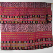 Traditional woven ikat textile from Timor, Indonesia