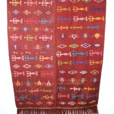 Traditional woven embroidered textile from Timor, Indonesia