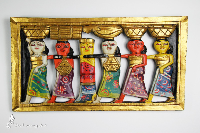 Balinses Market Procession Panel