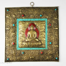Square Enlightenment Buddha Plate