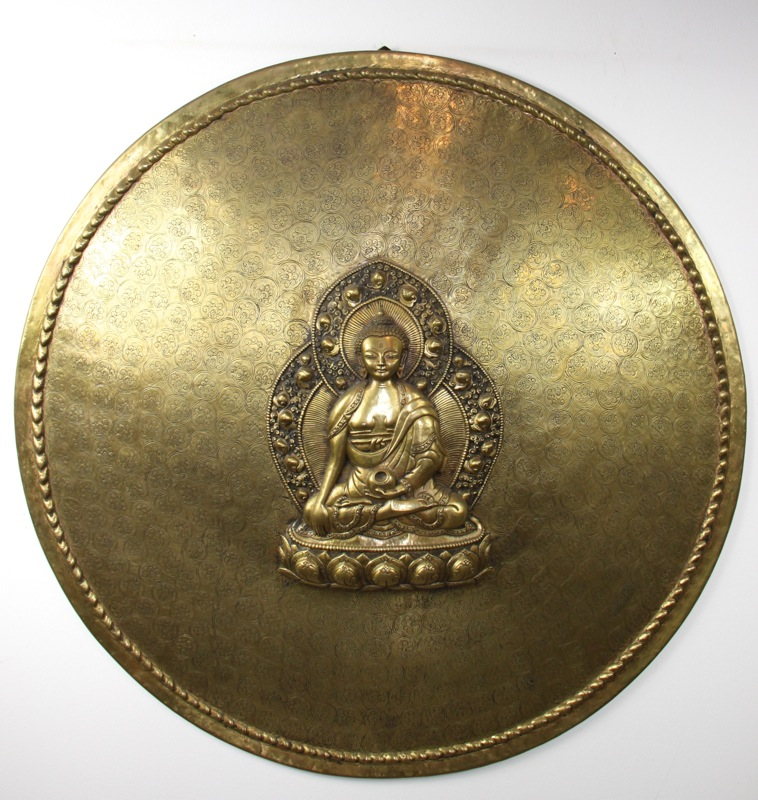 Brass Round Enlightenment Buddha Plate