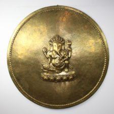 Brass Round Ganesh Plate