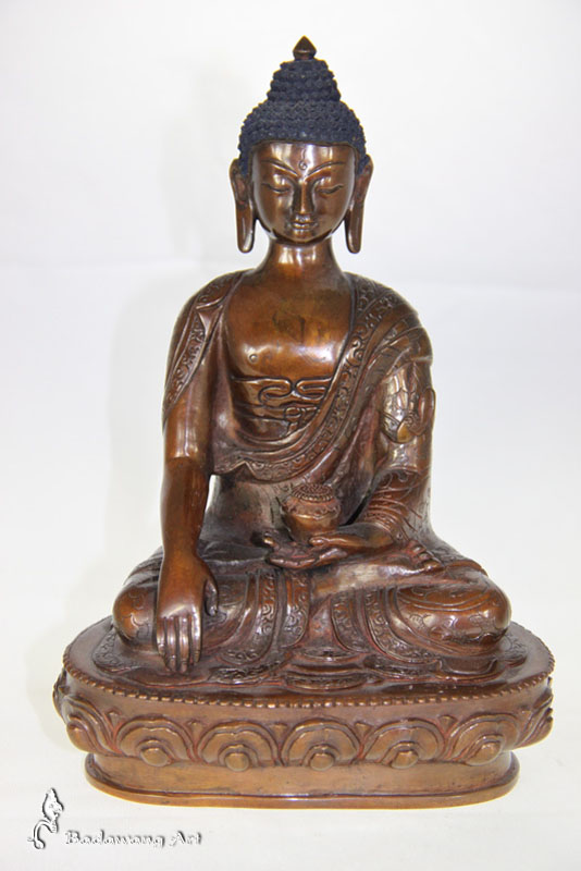 Brass/Copper Enlightenment Buddha