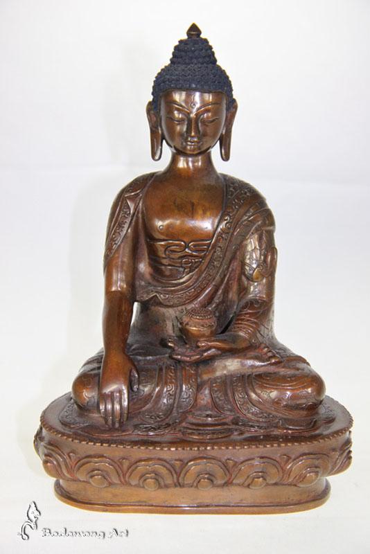 Brass/Copper Enlightenment Buddha
