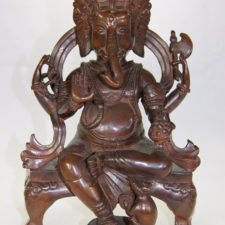 Seated Bress Throne Ganesh