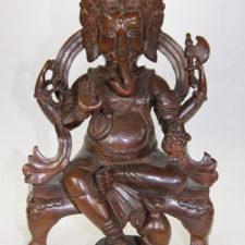 Seated Bress Throne Ganesh