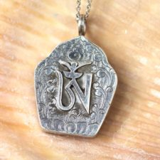 Silver Om Prayer Box Necklace