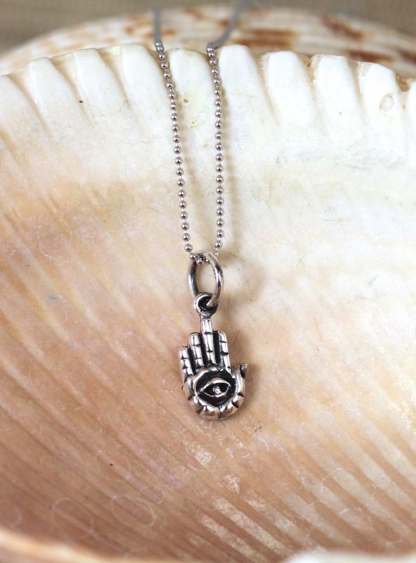 Silver Mini Hamsa Necklace
