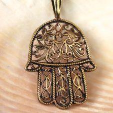 Copper Hamsa Necklace