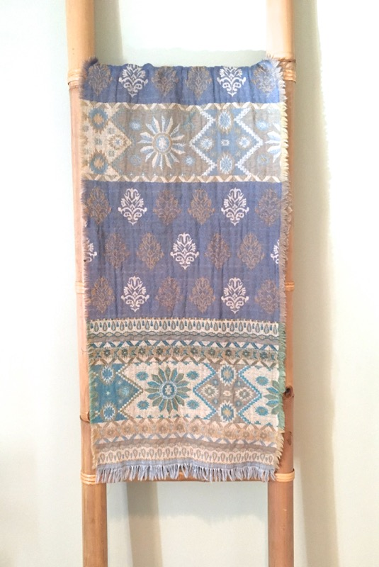 Merino Wool Scarf- Light Blue