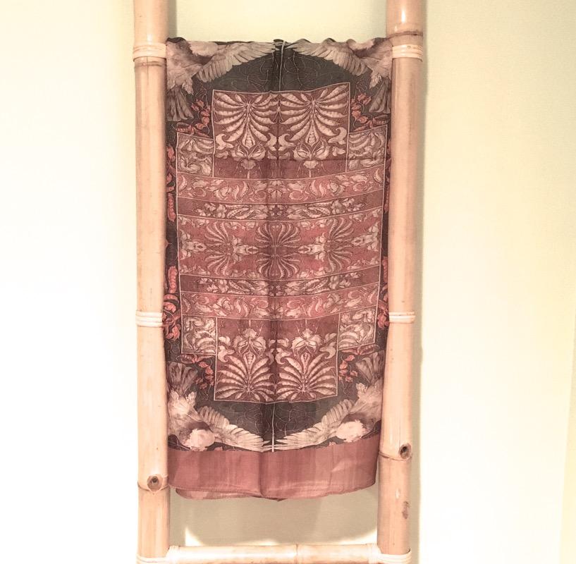 Handprinted Silk Scarf- Desert Beige