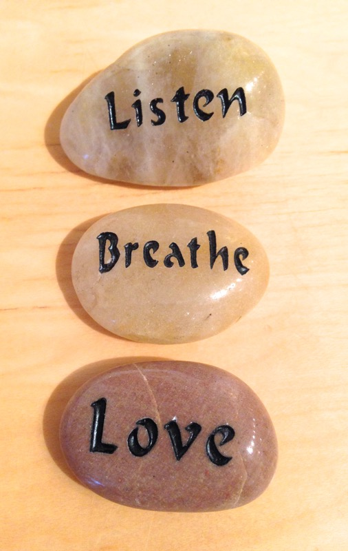 Listen, Breathe, Love talistone gift package