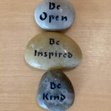 Be Open, Be Inspired, Be Kind Haiku Mantra Stone set gift package