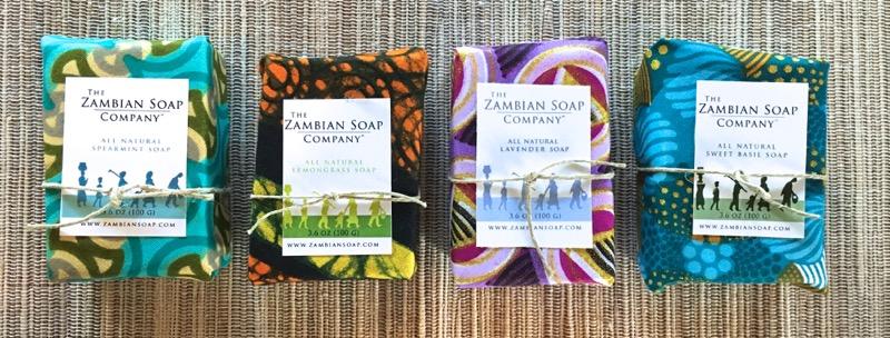 Spearmint, Lemongrass, Lavender and Sweet Basil Soaps