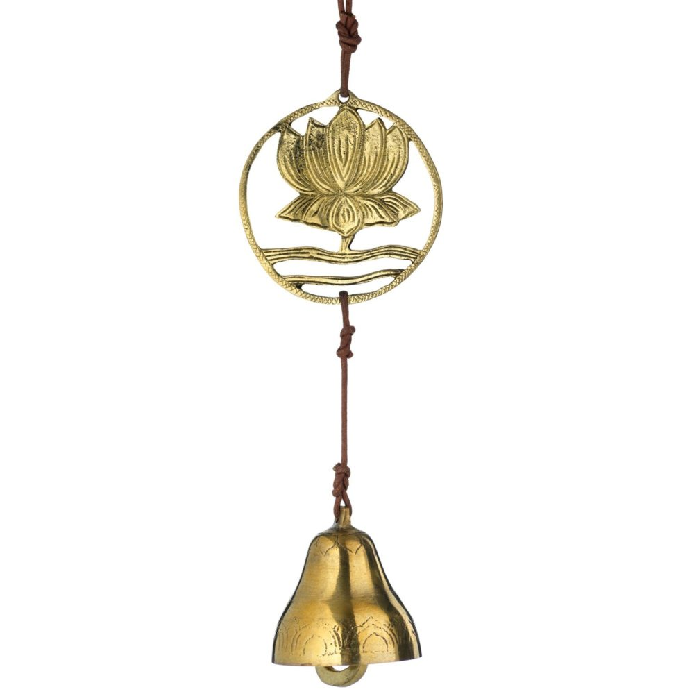 Brass Lotus Door Chime