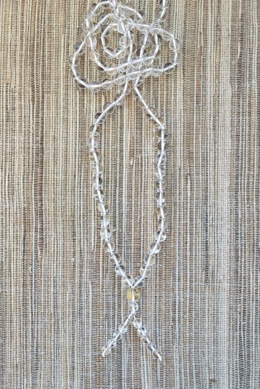 Clear Quartz Bead Mala