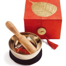 Golden Bodhi- Singing Bowl in a Box for Meditation
