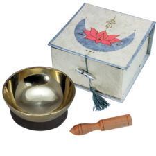 Lotus Moon- Mini Singing Bowl in a Box for Meditation