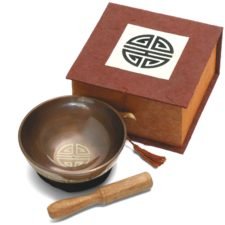 Longevity - Mini Singing Bowl in a Box for Meditation