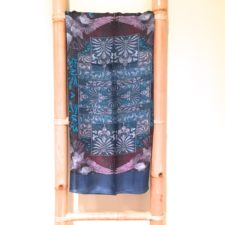 Handprinted Silk Scarf- Ocean Blue