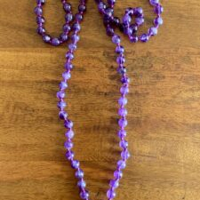 Amethust Quartx Crystal 108 Bead Mala