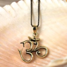 Bronze Om Necklace