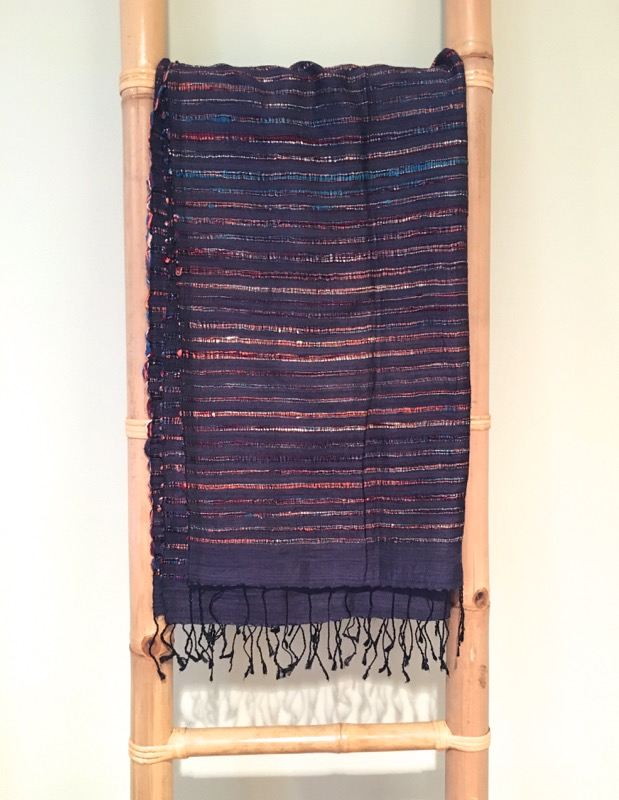 Thai Silk Shawl- Blue, Multi
