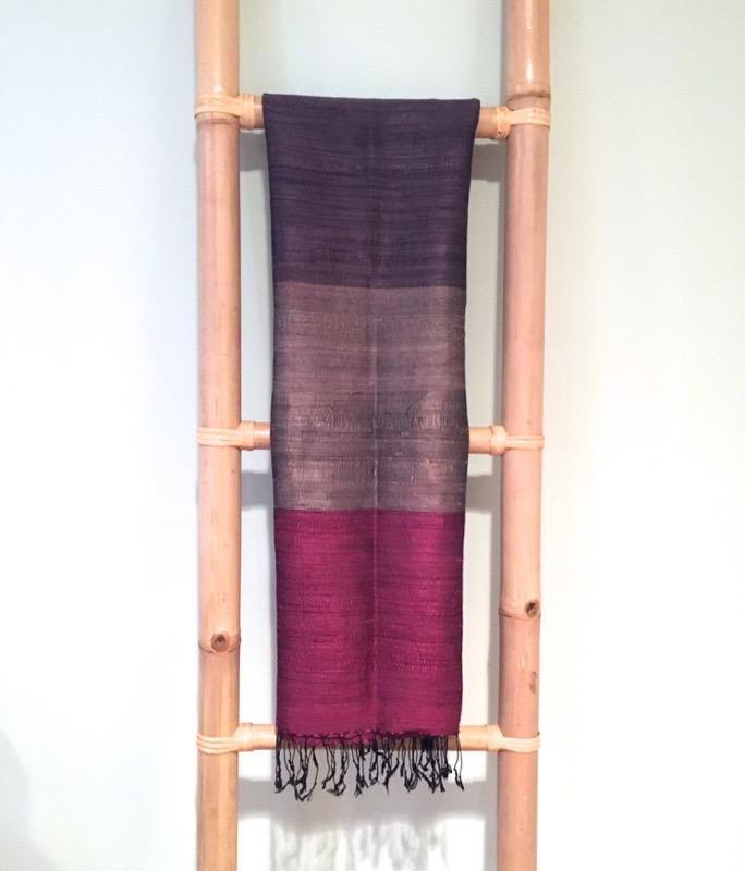 Thai Silk Shawl- Purple, Pink
