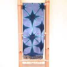 Indigo & Periwinkle Stars Silk Scarf