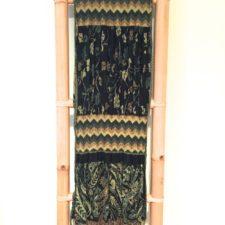 Rayon Jacquard Scarf- Green & Black