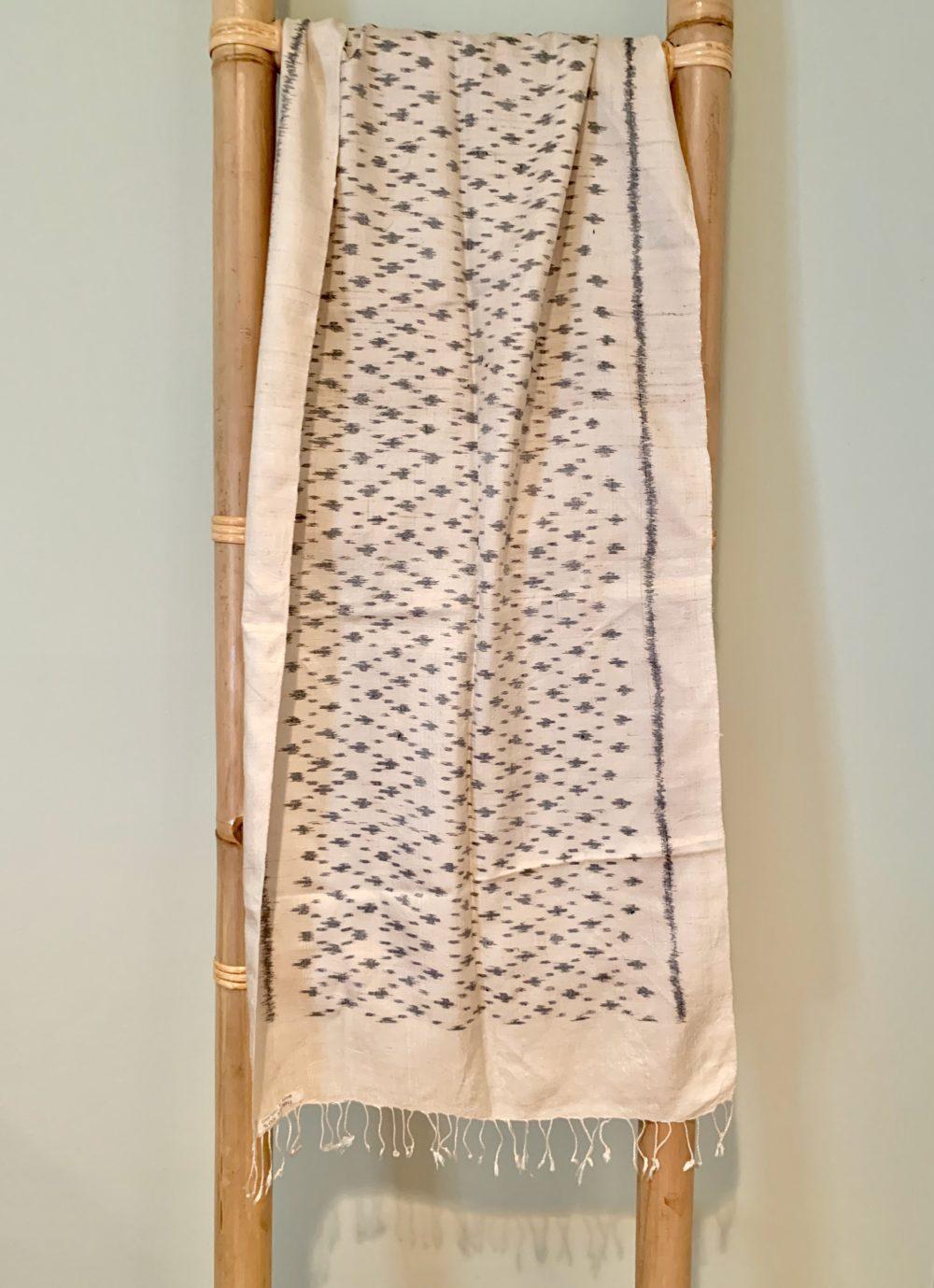 Thai silk handwoven scarf