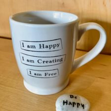 I am Happy Mantra Mug with a Talistione