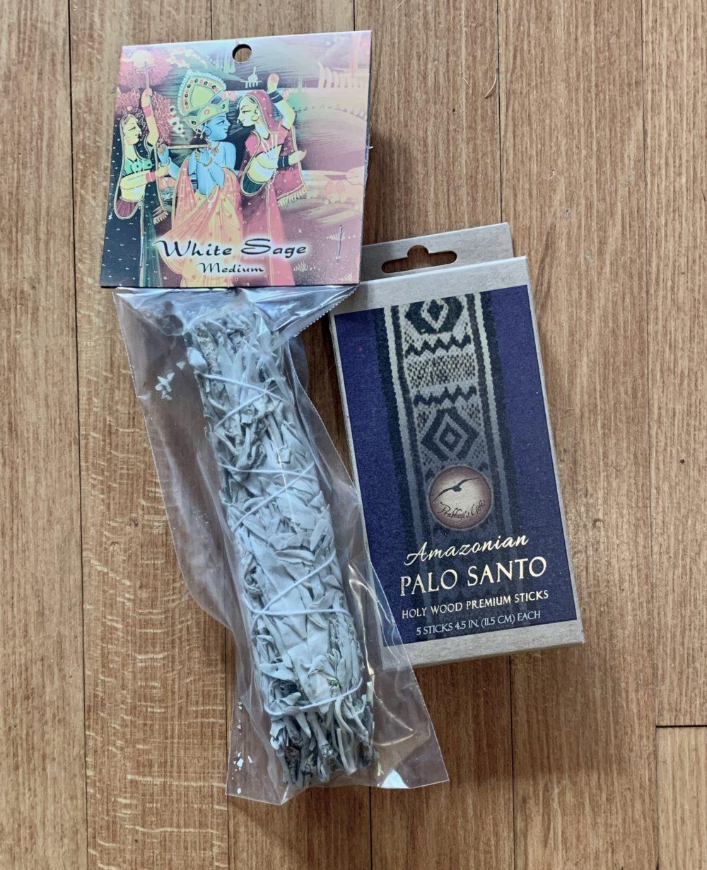White Sage Smudge Stick and Premium Palo Santo Sticks
