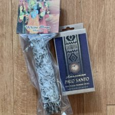 White Sage Smudge Stick and Premium Palo Santo Sticks