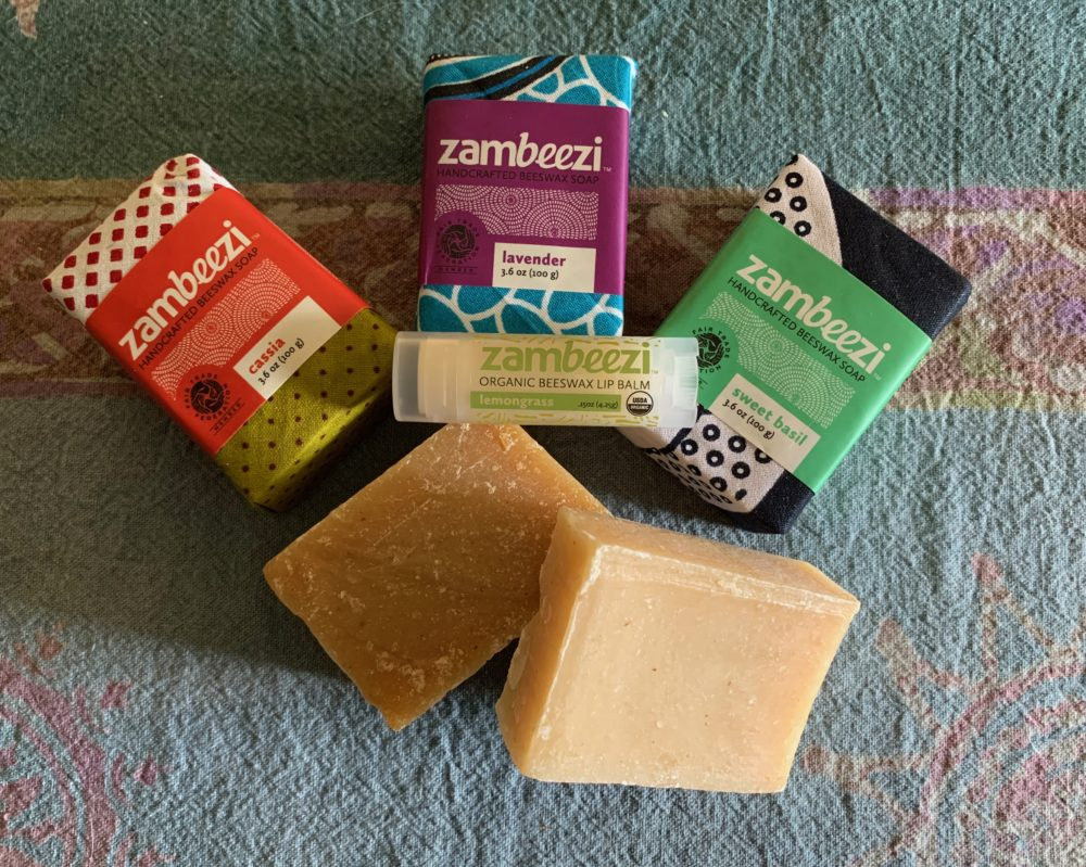 Organic Handmade soaps from Zambi a and Lip Balm