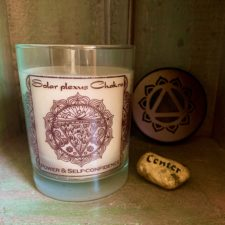 Solar Plexis lavender candle and Center Talsitone
