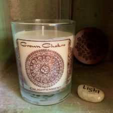 Crown Chakra Candle w/ Light Talistone