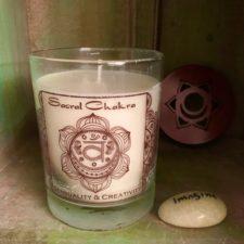 Sacral Chakra Soy candle w/ Imagiine Talsitone