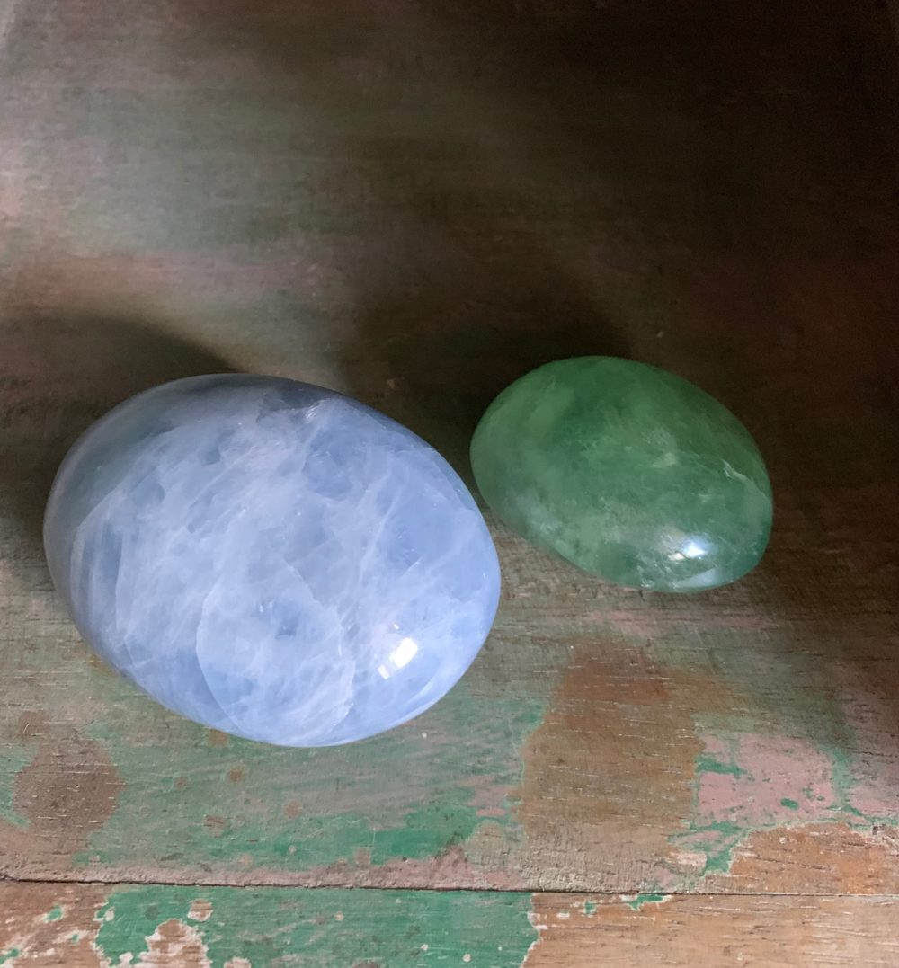 Blue Calcite and Green Fluorite