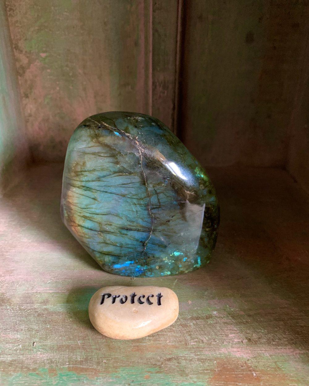 Labradorite Slab w/ protect stone