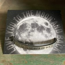 Love you to the moon pewter bracelet