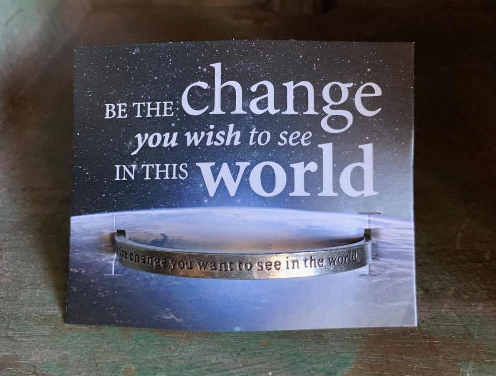 Be the change pewter bracelet