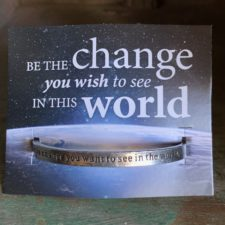 Be the change pewter bracelet