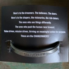 Change Maker pewter bracelet