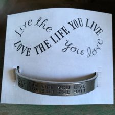 Love the life you love bracelet