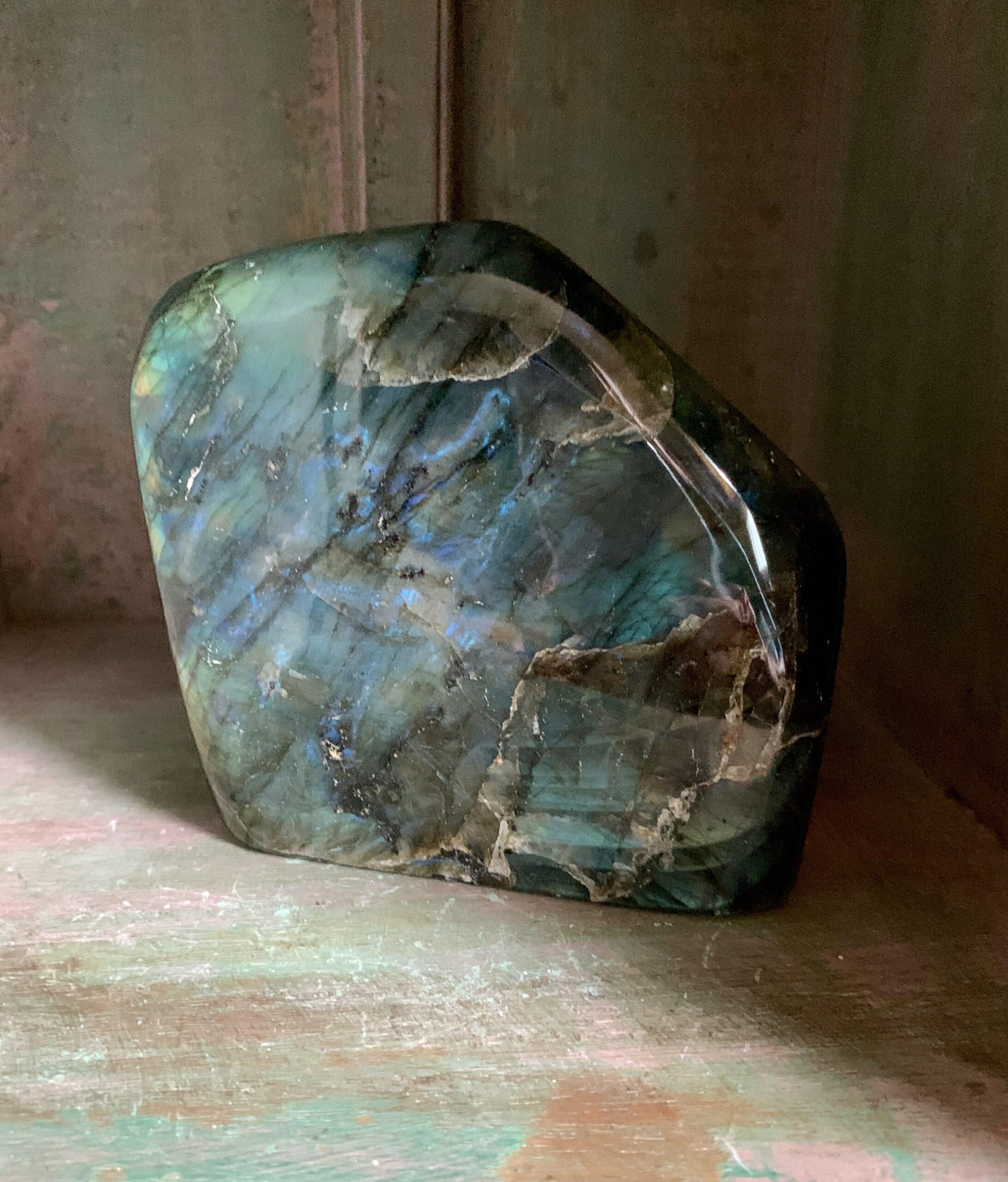 Labradorite Crystal Stone Slab