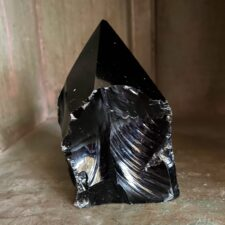 Black Obsidian Crystal Point