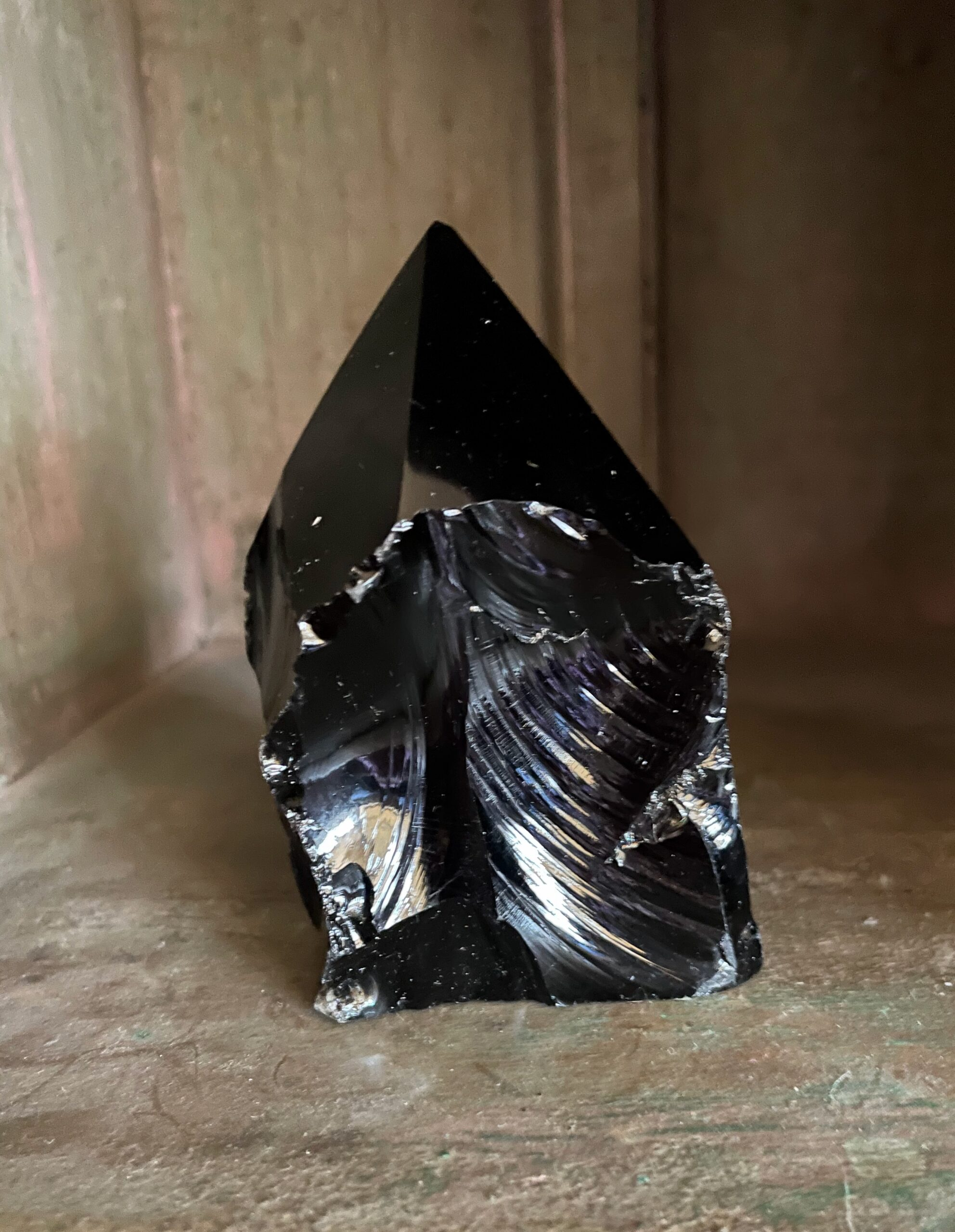 Black Obsidian Crystal Point