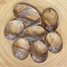 Smoky Quartz Crystal Palm Stone Set